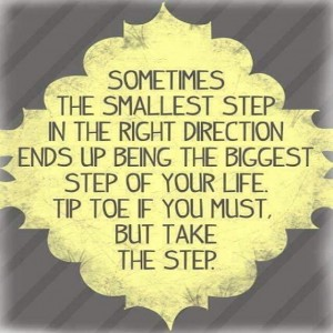 Smallest Steps Quote